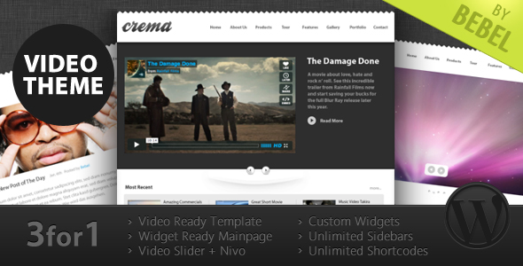 Crema WordPress Theme