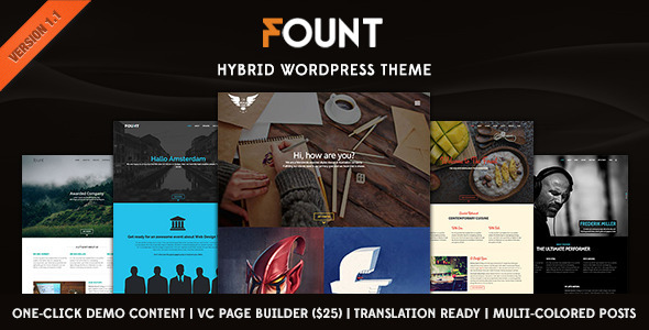 Fount – One & Multipage Hybrid WordPress Theme