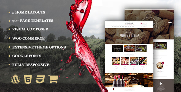 Wine – Restaurant WordPress Shop With Page Builder
