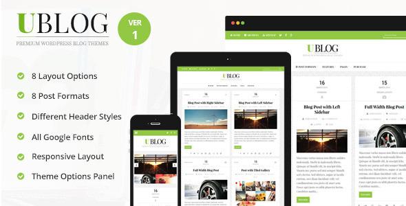 UBlog – Responsive WordPress Theme for Bloggers
