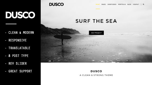 DUSCO – Simple Creative WordPress Theme