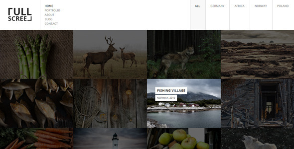 FULLSCREEN – Photography Portfolio WordPress Theme
