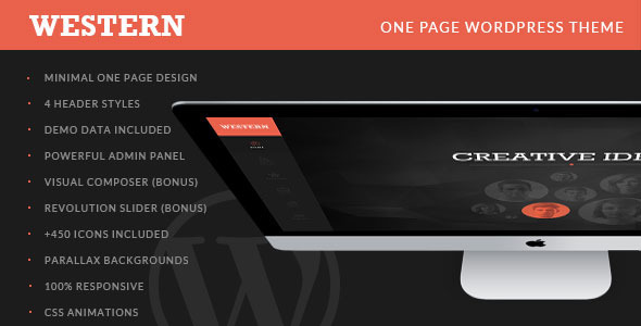 Western – Minimal One Page WordPress Theme