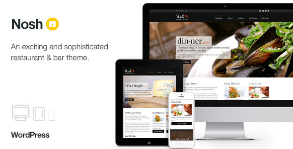 Nosh – Restaurant and Bar WordPress Theme