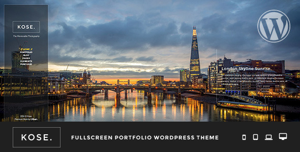 Kose – Fullscreen Portfolio WordPress Theme