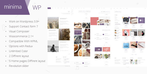 Minima – Ecommerce & Corporate WordPress Theme