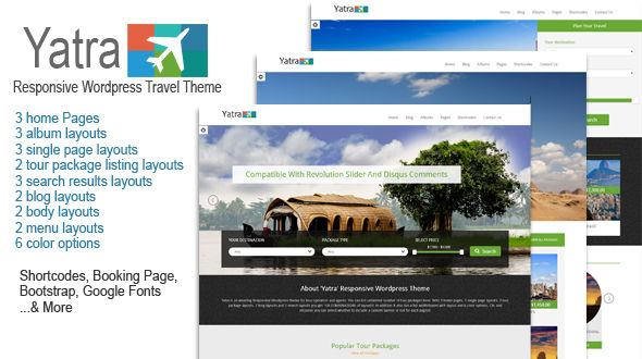 Yatra-Responsive WordPress Travel Theme