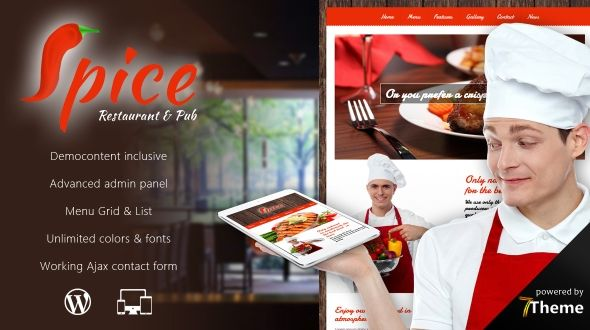 Spice – Responsive WordPress Restaurant Theme