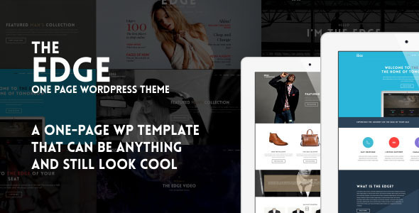 The Edge – One Page Multipurpose WordPress Theme