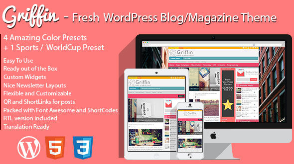 Griffin – Fresh WordPress Blog & Magazine Theme