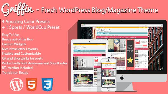 Griffin – Fresh WordPress Blog & Magazine Theme