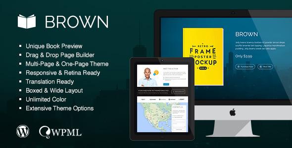 Brown – Responsive WordPress Theme for eBook