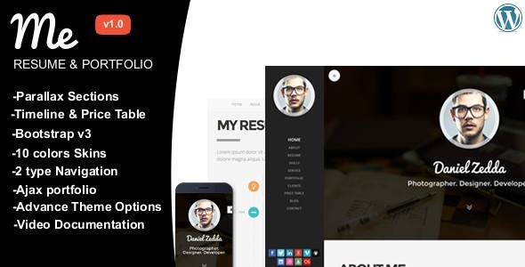 ME – Multipurpose Resume & One Page Portfolio