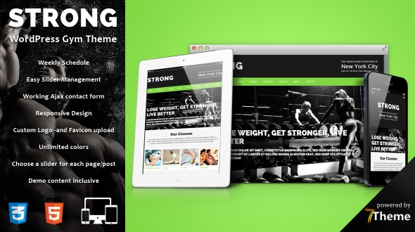 Strong – Sport / Gym / Fitness WordPress Theme
