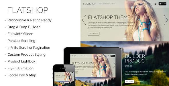 Flatshop – Parallax WooCommerce Theme