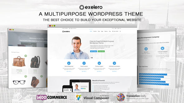 Exelero – Responsive Multi-purpose WordPress Theme