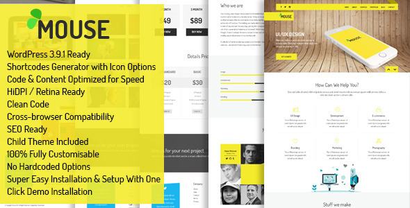 Mouse Multipurpose Responsive WordPress Theme