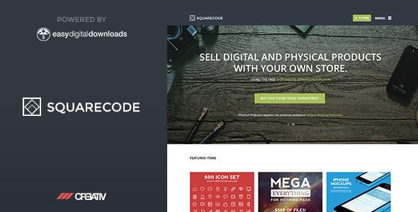SquareCode Premium WordPress Theme