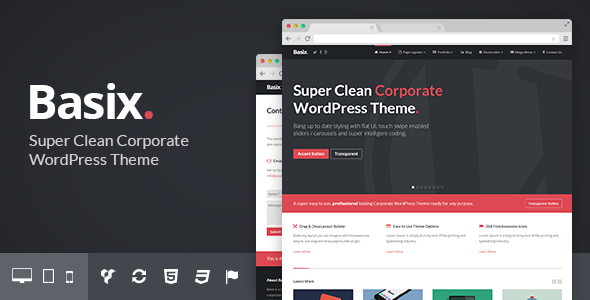 Basix – Corporate WordPress Theme