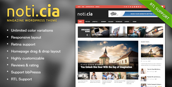 Noticia – Responsive WordPress Magazine Theme