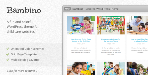 Bambino – Children WordPress Theme