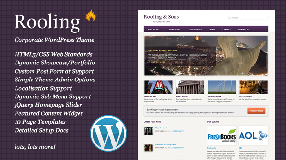 Rooling Corporate/Legal WordPress Theme