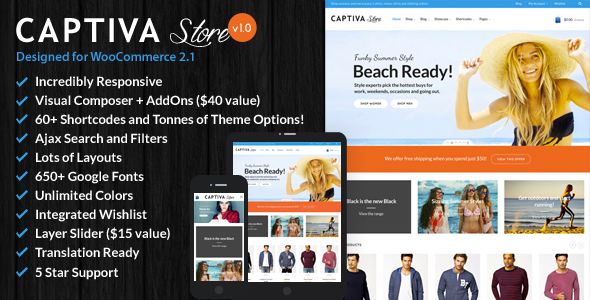 Captiva – Responsive WordPress WooCommerce Theme