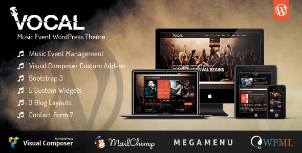 Vocal – Music Event WordPress Theme