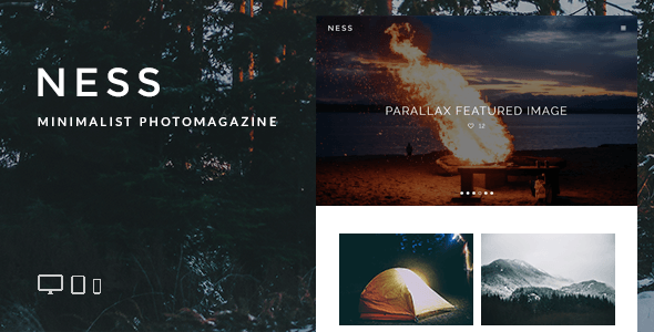 Ness – Minimalist Photo Magazine WordPress Theme