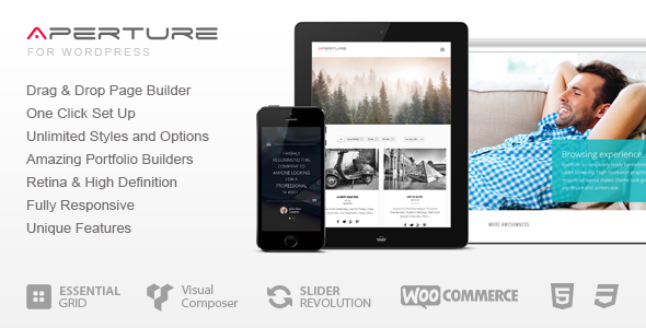 Aperture – Full Featured WordPress Theme