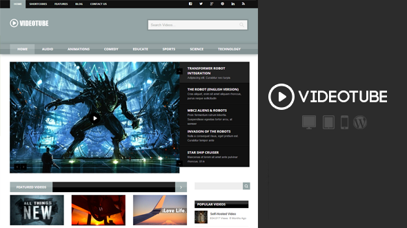 VideoTube – Video Streaming WordPress Theme