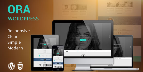 ORA – One Page Creative Agency WordPress Theme
