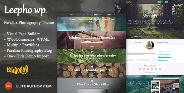 Leepho WP – Parallax Photography Theme