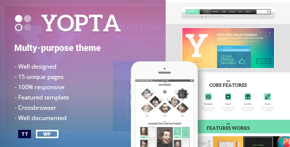 Yopta – Multi-Purpose WordPress Theme