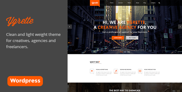 Ygrette – Responsive One Page WordPress Theme
