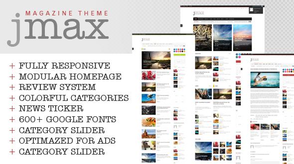 Jmax – Responsive Blog, Magazine & Review WordPress Theme
