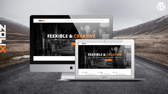 Zolix – Parallax One/Multi Page WordPress