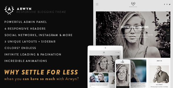 Arwyn – A Charming Personal WordPress Blog Theme