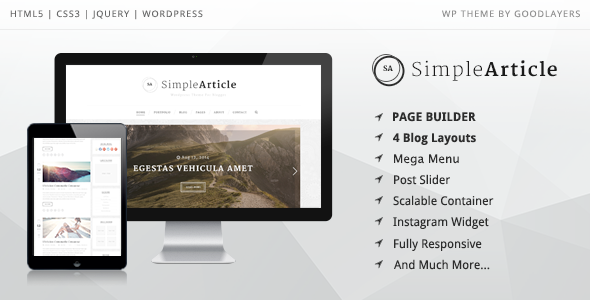 Simple Article – WordPress Theme For Personal Blog