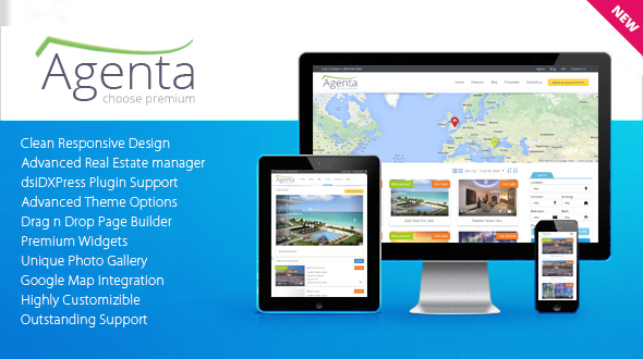 Agenta – Responsive Real Estate WordPress Theme