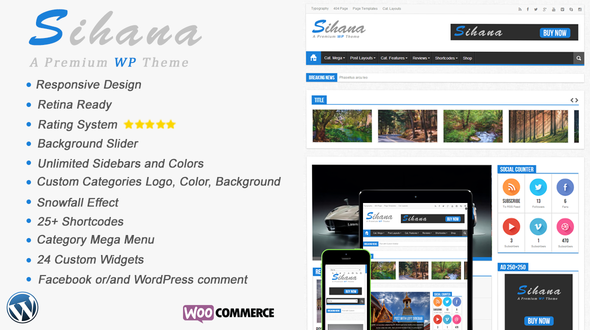 Sihana – Responsive News, Magazine and Blog WordPress Theme