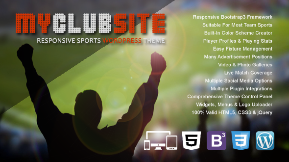 MyClubSite – Responsive Sports WordPress Theme