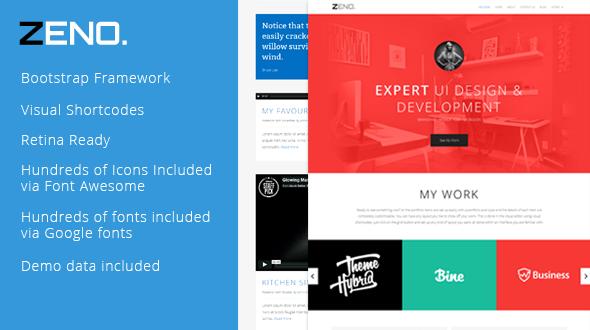 ZENO – Single Page Responsive Portfolio Theme