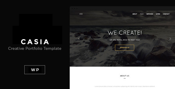 Casia – Minimal Clean WordPress Theme