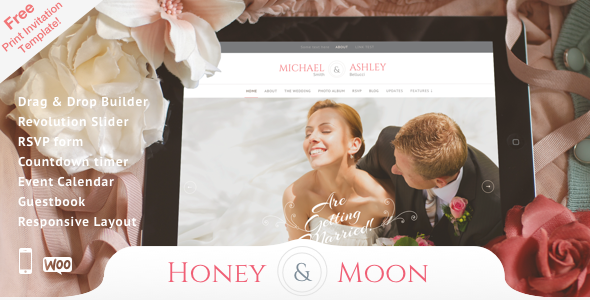 Honeymoon – Wedding Responsive Theme