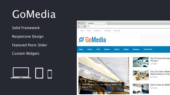 GoMedia – Fresh Responsive Magazine Theme