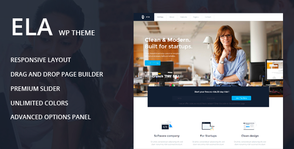 Ela – Business / Multipurpose Theme