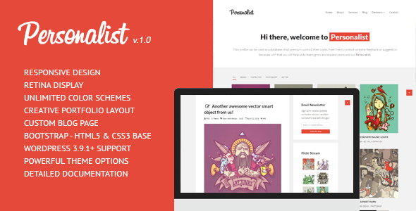 Personalist – Creative Portfolio WordPress Theme