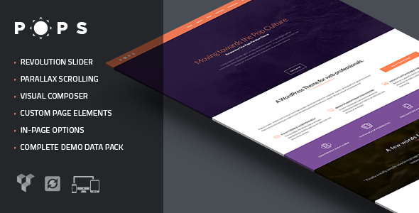 Pops – Responsive One Page Parallax Theme