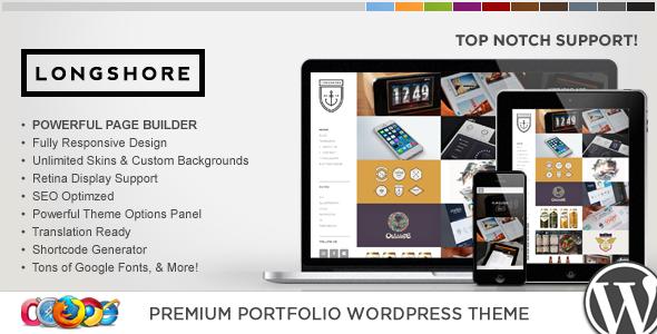 WP Longshore Responsive Portfolio WordPress Theme